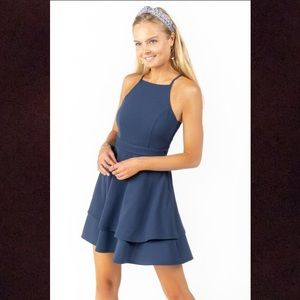 Francesca's Dark Blue Mini Dress